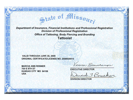 License | State of Missouri