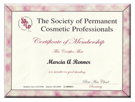Society of Permanent Cosmetics Professional | Marcia Renner